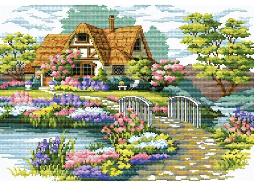 Дом с садом схема вышивки 39