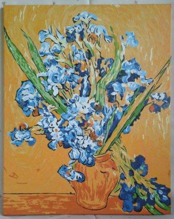 """Картина по номерам """"Ирисы Ван Гог"""" 006-CG, нарисованная покупателем"""