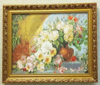 """Картина по номерам """"Королевский букет"""" 035-АВ, нарисованная покупателем"""
