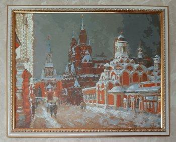 """Картина по номерам """"Перед Рождеством"""" 075-AB, нарисованная покупателем"""