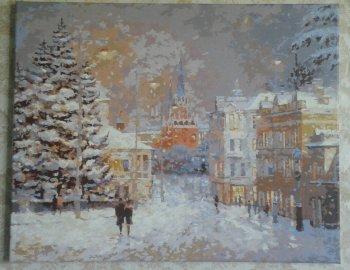 """Картина по номерам """"Снег на Волхонке"""" 076-AB, нарисованная покупателем"""