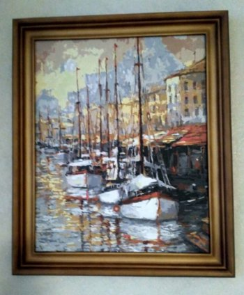 "Картина по номерам ""Летний вечер на юге Франции"" 080-AB, нарисованная покупателем"