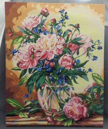 """Картина по номерам """"Букет лесных цветов"""" 081-CG, нарисованная покупателем"""