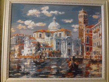 """Картина по номерам """"Венеция. Церковь Сан Джеремия"""" 126-AB, нарисованная покупателем"""