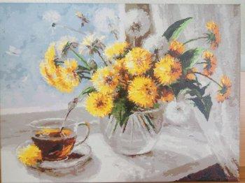 """Картина по номерам """"Одуванчики"""" 126-AS, нарисованная покупателем"""