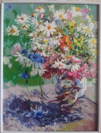 "Картина по номерам ""Спасибо"" 136-AS, нарисованная покупателем"