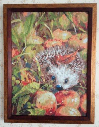 """Картина по номерам """"Яблочный ёжик"""" 140-AS, нарисованная покупателем"""