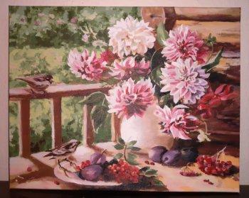 """Картина по номерам """"Уходящее лето"""" 148-AB, нарисованная покупателем"""