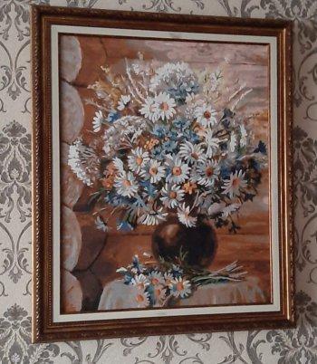"""Картина по номерам """"Летняя прогулка"""" 173-AB, нарисованная покупателем"""