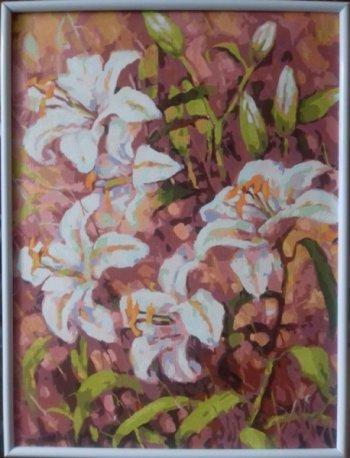 """Картина по номерам """"Нормандские лилии"""" 180-AS, нарисованная покупателем"""
