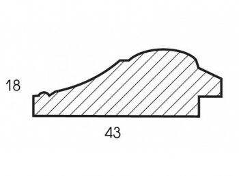 Размеры багетной рамы Elena