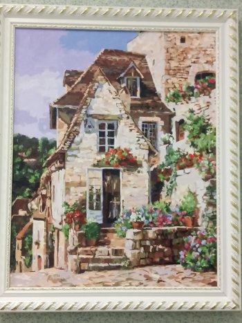 """Картина по номерам """"Франция. Ракамадур"""" 212-AB, нарисованная покупателем"""