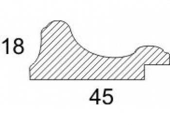 Размеры багетной рамы Alice (золотой)