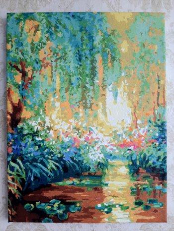 """Картина по номерам """"Майское утро в Живерни"""" 223-AS, нарисованная покупателем"""