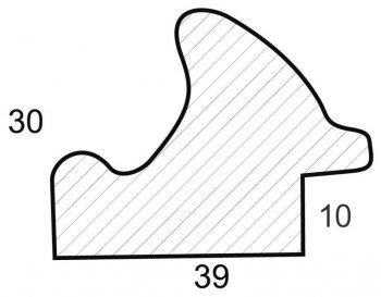 Размеры багетной рамы Irma