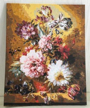 """Картина по номерам """"Фламандский букет"""" 251-AB, нарисованная покупателем"""