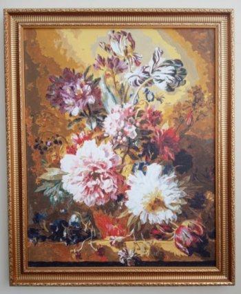 """Картина по номерам """"Фламандский букет"""" 251-AB , нарисованная покупателем"""