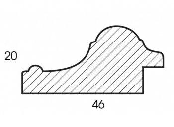 Размеры багетной рамы Renaissance (тёмно-коричневый)