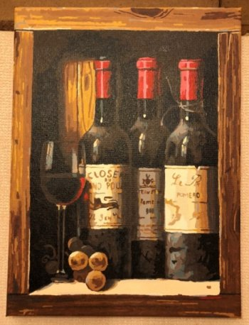 """Картина по номерам """"Коллекционное вино"""" 307-AS, нарисованная покупателем"""