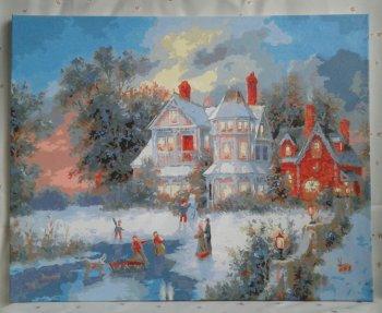 """Картина по номерам """"Зимний день"""" 331-AB, нарисованная покупателем"""