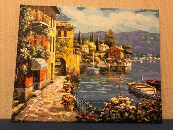 """Картина по номерам """"Летний городок"""" 362-CG, нарисованная покупателем"""