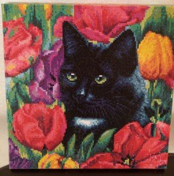"""Мозаика на подрамнике """"Среди тюльпанов"""" 381-ST-S, выложенная покупателем"""