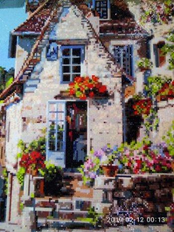 """Мозаика на подрамнике """"Франция. Ракамадур"""" 387-ST-S, выложенная покупателем"""