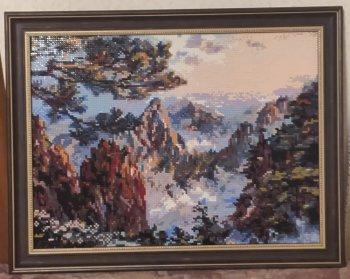 """Собранная мозаичная картина 518-ST-S """"Китай. Хуаншань"""" в раме"""