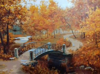 """Картина по номерам """"Осенний парк"""" 527-CG, нарисованная покупателем"""