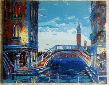 """Картина по номерам """"Каналы Венеции"""" 624-АВ, нарисованная покупателем"""