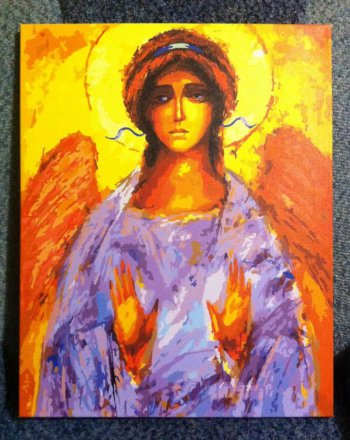 """Картина по номерам """"Ангел"""" 914-AB, нарисованная покупателем"""