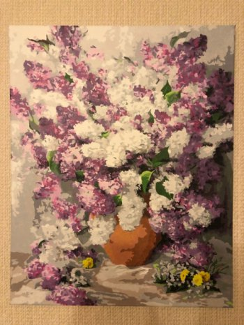 """Картина по номерам """"Персидская сирень"""" 921-AB, нарисованная покупателем"""