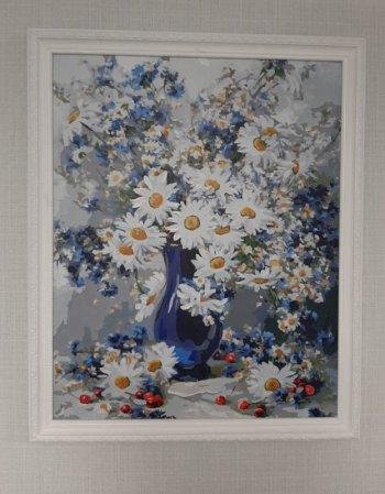 """Картина по номерам """"Любимые цветы"""" 922-AB, нарисованная покупателем"""