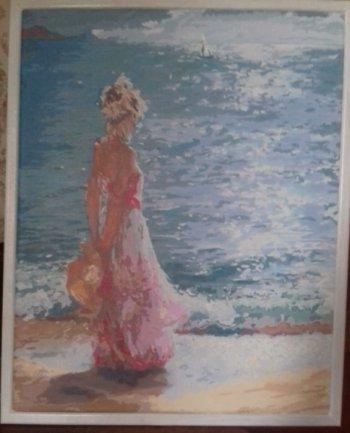 "Картина по номерам ""Утренняя прогулка"" 933-AB, нарисованная покупателем"