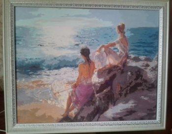 """Картина по номерам """"У самого синего моря"""" 937-AB, нарисованная покупателем"""