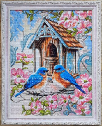 "Мозаичная картина Ag 048 ""Семейное гнездышко"" в раме"