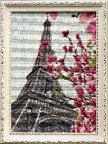 """Мозаичная картина Ag 055 """"Символ Парижа"""" в раме"""