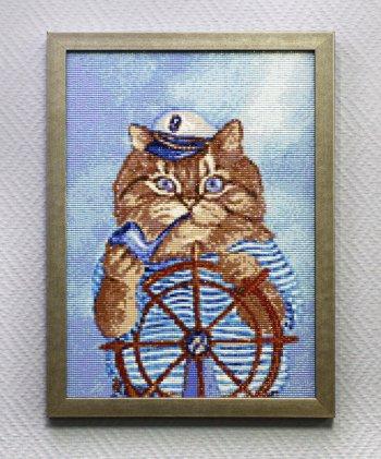 """Мозаичная картина Ag 057 """"Капитан"""" в раме"""