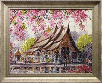 "Мозаичная картина Ag 078 ""Пагода"" в раме"