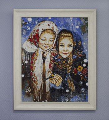 "Мозаичная картина Ag 093 ""Русские красавицы"" в раме"