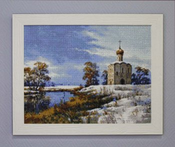 "Мозаичная картина Ag 095 ""Старая часовня"" в раме"