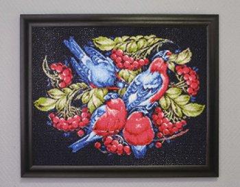 """Мозаичная картина Ag 096 """"Русские узоры"""" в раме"""