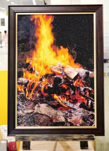 """Мозаичная картина Ag 1012 """"Огонь"""" в раме"""
