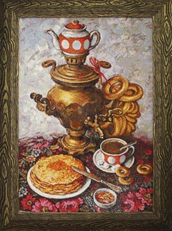 """Мозаичная картина Ag 101 """"Царский чай"""" в раме"""