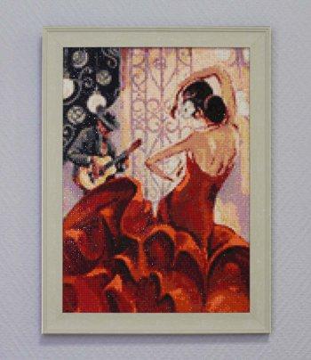 "Мозаичная картина Ag 110 ""Жаркая сальса"" в раме"