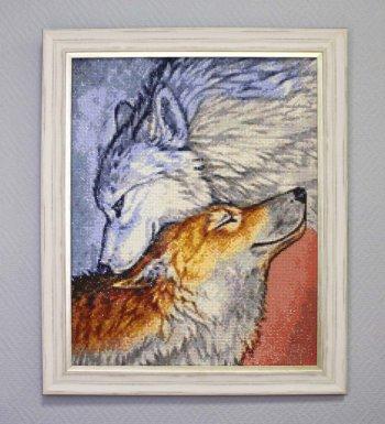 """Мозаичная картина Ag 114 """"Преданность"""" в раме"""