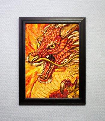 """Мозаичная картина Ag 127 """"Китайский дракон"""" в раме"""