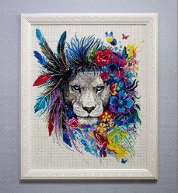 """Мозаичная картина Ag 133 """"Цветные видения"""" в раме"""