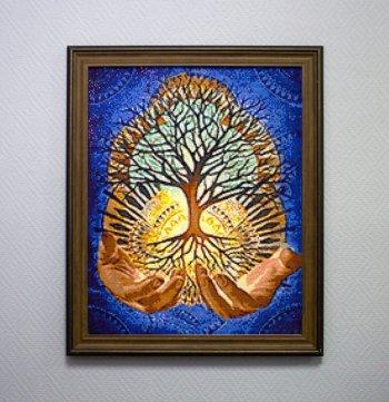 """Мозаичная картина Ag 140 """"Древо жизни"""" в раме"""