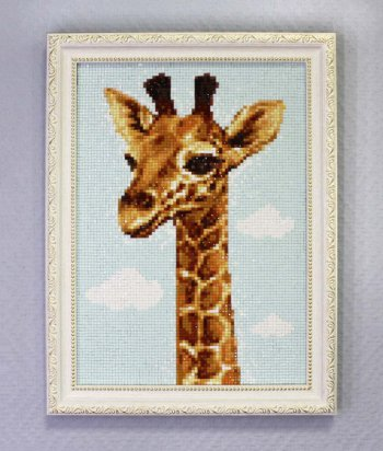 """Мозаичная картина Ag 149 """"Жирафик"""" в раме"""